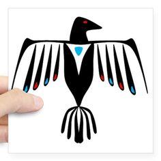 Native American Thunderbird Square Sticker x by - CafePress Native American Blanket, Native American Decor, Native American Symbols, Native American Pottery, American Indians, Thunderbird Tattoo, Alaska Tattoo, Native American Thunderbird, Native Tattoos