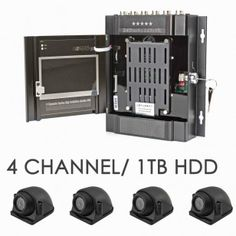 X7 1TB 720P 4 Camera 4 Channel AHD Vehicle DVR With Built In Screen CCTV Kit