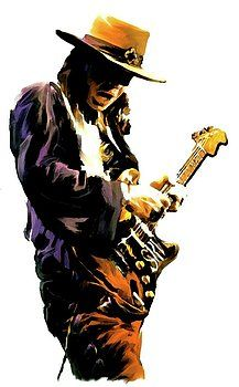 Iconic Images Art Gallery David Pucciarelli - Flash Point Stevie Ray Vaughan