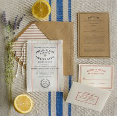 Guys, get ready for cuteness overload because we're not quite sure we've ever seen an invitation suite we love more than the Market invite from Lucky Luxe! Printed on a darling miniature grain sack, the Market is the quintessential wedding invitation for an elegant, rustic wedding! The design was inspired by French grain sacks and fresh picked farmer's...