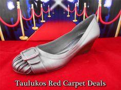 $60 Womens shoes Unique ANDREW Geller Bronze Wedge High Heel Pumps sz 9 M #AndrewGeller  #Wedges #shoes #heels #bronze #leather