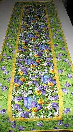 Spring Table Runner Easter Spring Summer handmade