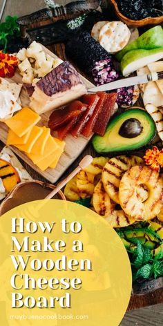 Take your cheese board to the next level with the addition of grilled summer fruit! A simple grilled appetizer that will be a hit with all your guests and it looks stunning! I also included bowls of fresh honey and wild huckleberry jam. Delicious Dinner Recipes, Yummy Appetizers, Appetizer Recipes, Mexican Food Recipes, New Recipes, Huckleberry Jam, Wooden Cheese Board, Grilled Fruit, Summer Fruit