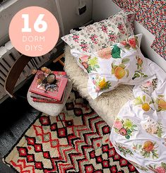 """Adorable DIY's for your """"dorm"""" (or any space, I think) from designsponge"""