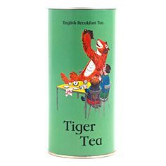Tiger Tea' English Breakfast Tea  This delicious blend of black teas including Ceylon, Assam and Keemun is made especially for the VThe designon the decorativetin istaken from The Tiger Who Came To Tea written and illustrated by Judith Kerr.    Created especially for the V Museum