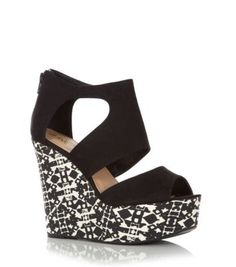 Discover the latest trends with New Look's range of women's, men's and teen fashion. Crazy Shoes, Me Too Shoes, Teen Fashion, Womens Fashion, Shoe Gallery, Black Pattern, Aztec, New Look, Contrast