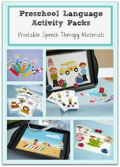 preschool speech therapy activities