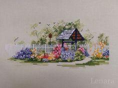 Мой колодец, исполняющий желания! Прекрасная летняя акварельная зарисовка от Алисы Окнеас! Вышивала...