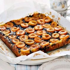 Easy chocolate apricot tart...This looks awesome.