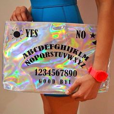 Witchy Hologram Clutches - The Ouija Board Hologram Clutch From ...