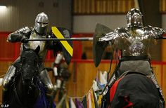 Action: Two of the Seattle Knights joust