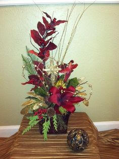 Silk Floral Arrangements for Christmas & Holiday