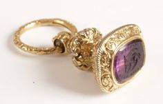 amethyst engraved 'Esto Quod Esse Videre' with a central falcon