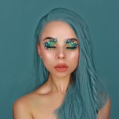 "42k Likes, 128 Comments - Lime Crime (@limecrimemakeup) on Instagram: ""@snitchery serving real life mermaid vibes in 'Gold' from HI-LITE Opals ✨"""
