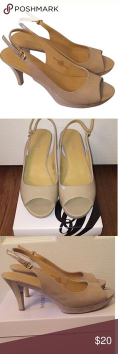 Nine West nude heels Nude color patten upper and suede lower. Worn only once for a wedding. Has box. Many of my listing can be found for a lower price on Tradesy/Ⓜ️ercari since they take less commission and I can control the shipping cost as well. Comment on the post if you'd like a link‼️I can also add any items you can't find to those places Nine West Shoes Heels