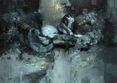 """Jeremy Mann, """"The Advent of Winter"""" - 43x60, oil on panel--at Principle Gallery"""