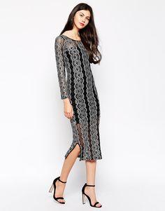Ukulele Star Dress With Lace Overlay