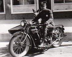 1920's. Colorado Springs P.D. Patrol Motorcycle Officer and his Partner.