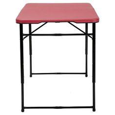 Indoor Outdoor Adjustable Height Folding Tailgate Table   4 Ft.   Red    Cosco | Tailgate Table, Tailgating And Indoor Outdoor