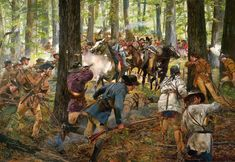 At the Battle of King's Mountain men attacked the army from behind trees (Guerilla warfare).The British tried to surrender, but were offered no quarters due to the harsh treatment of the army to the citizens. This battle ended up being an American victory. It was also the turning point of the war because the British began to retreat from the Upcountry.