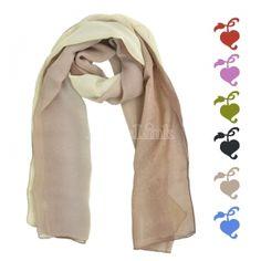 Soft Long chiffon Gradient Color Scarf Sun Beach Towels