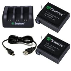 Shop for Smatree Replacement Battery And Charger + Usb Cord For Gopro Hero 4 Camera Camcorder. Starting from Choose from the 2 best options & compare live & historic camera other accessory prices. Photo Accessories, Camera Accessories, Gopro For Sale, Gopro Action, Gopro Video, Gopro Camera, Leica Camera, Gopro Kamera