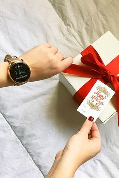 A can't go wrong gift, the Q Wander rose gold display smartwatch. via @ hollycrabtree