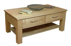enhance your living room with this mobel oak four drawer oak coffee table 4 drawer