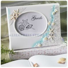 Beach Themed Starfish and Seashell Guest Book/Frame