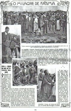 1917 Portuguese newspaper documenting the miracle of the sun at Fatima