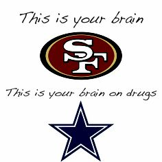 49ers vs Cowboys Sf Niners, Forty Niners, Niners Girl, Raiders Emblem, 49ers Funny, Nfl 49ers, Football Memes, Nfl Memes, Football Team