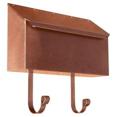 QualArc Antique Copper Vertical Wall Mount Non-Locking Mailbox-MB-500-AC - The Home Depot