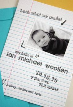 adorable birth announcement