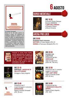 Città di Nettuno. Programma italian horror fest del 6 agosto 2014