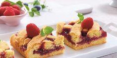 Her får du en deilig fyrstekake med en sommerlig tvist... Fudgy Brownies, Blondies, Waffles, French Toast, Cupcake, Sweets, Cheese, Breakfast, Food