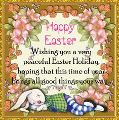 Wish family and friends a peaceful Easter holiday with this cute sleeping bunny card. Free online Peaceful Easter Holidays ecards on Easter Thank You Wishes, Thank You Cards, Happy Easter, Easter Bunny, Holiday Ecards, Sleeping Bunny, Family Wishes, Easter Quotes, Easter Wishes