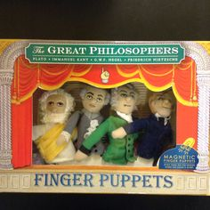The Great Philosophers finger puppets.