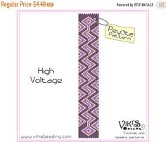 30% off SALE Peyote Bracelet Pattern: High Voltage - INSTANT DOWNLOAD pdf - New coupon codes