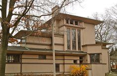 William Fricke House. Prairie Style. Frank Lloyd Wright. 1901. Oak Park, Illinois.