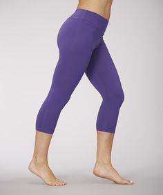 785f56e80e5ea6 Another great find on #zulily! Marika Deep Blue Sanded Dry-Wik Capri  Leggings
