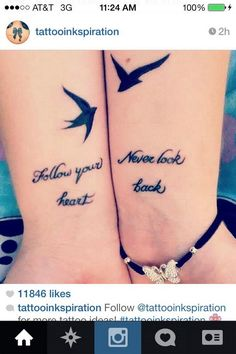 40 Creative Best Friend Tattoos, I'm not a big fan if tattoos that connect two ppl incase something happens but these are cute idea