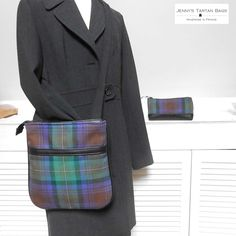 Cross body bag and pencil case in the Isle of Skye tartan by Jenny's Tartan Bags