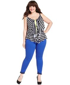 Celebrity Pink Jeans Plus Size Jeans Colored Skinny - Junior Plus