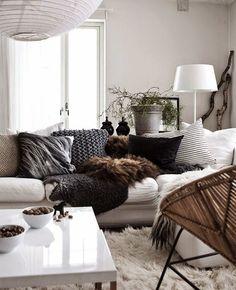 Winter is coming. Kış dekorasyonu oturm odası kışlık