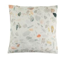 Update your home with charming Danish design with this Terrazzo cushion from Bloomingville. Made from cotton, this cushion is realistically printed with a flecked Terrazzo stone design. It is striking Terrazzo, Contemporary Cushions, Milan Furniture, Idee Diy, Trends, Danish Design, Home Textile, Decoration, Home Accessories