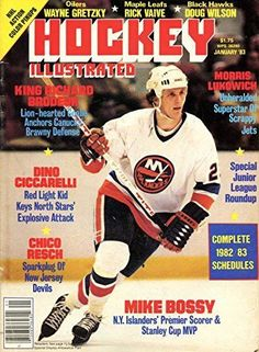 Hockey Illustrated January 1983- Mike Bossy Cover Photo