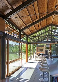 Lake/Flato - Jessica's Pins! Shed Homes, Barn Homes, Steel House, Steel Frame House, Wood Architecture, Residential Architecture, Metal Structure, Shade Structure, Arquitetura E Design