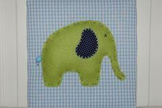 Bild Baby-u. Kinderzimmer Elefant blau/grün