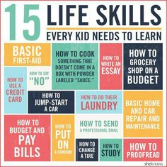 15 Life Skills to teach your child... no matter the gender!