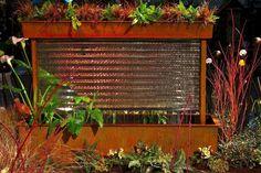 2013 Northwest Flower & Garden Show iron water feature with corrugated glass